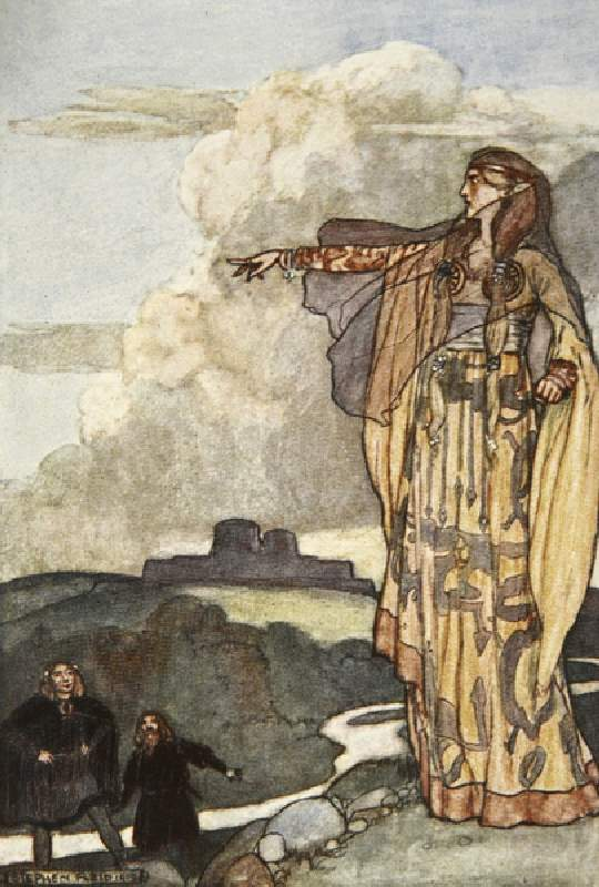 Macha Curses the Men of Ulster by Stephen Reid